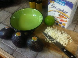 Preparing to make guacamole